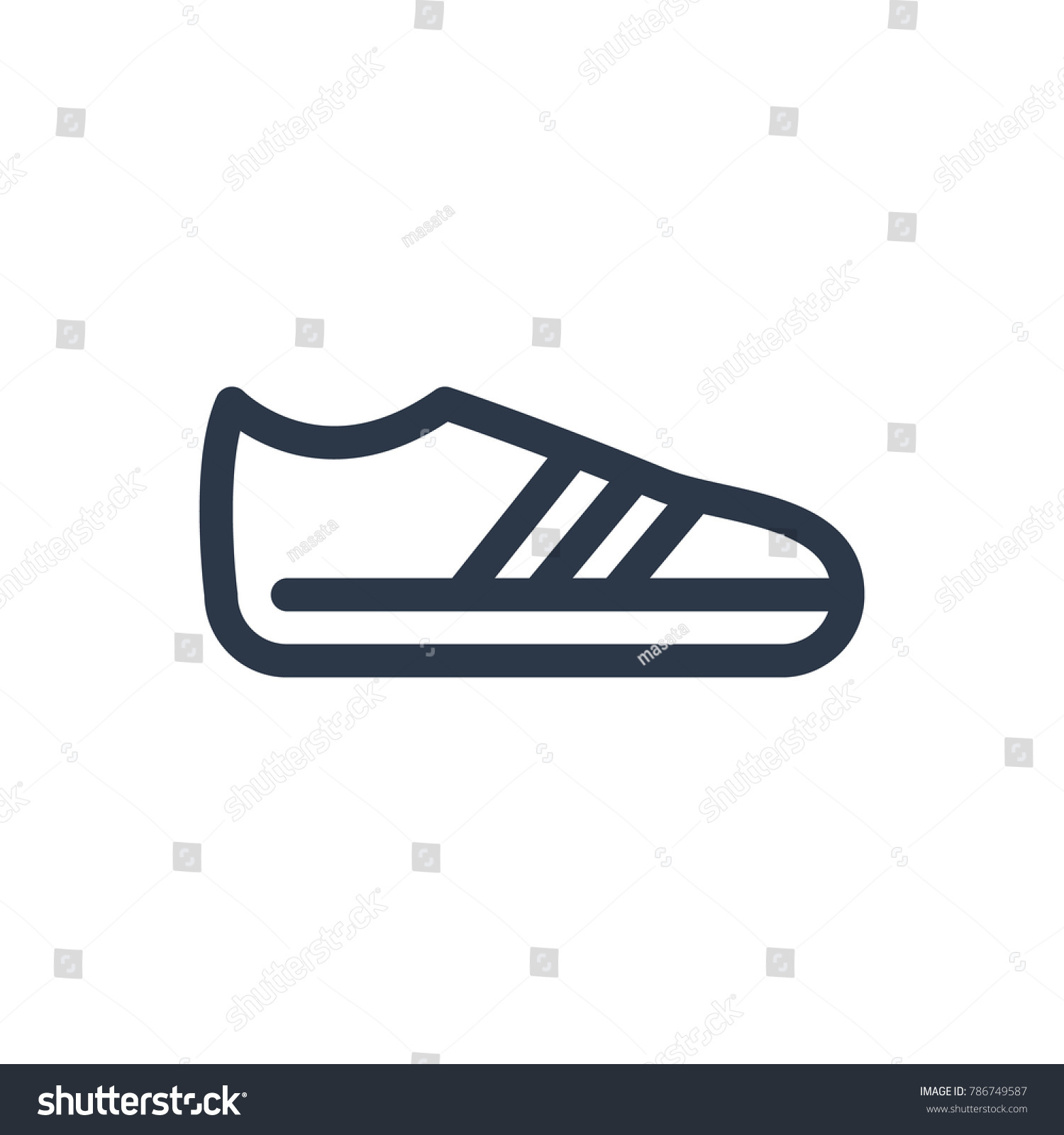 Sneaker Icon Isolated Gumshoes Sneaker Icon Stock Illustration