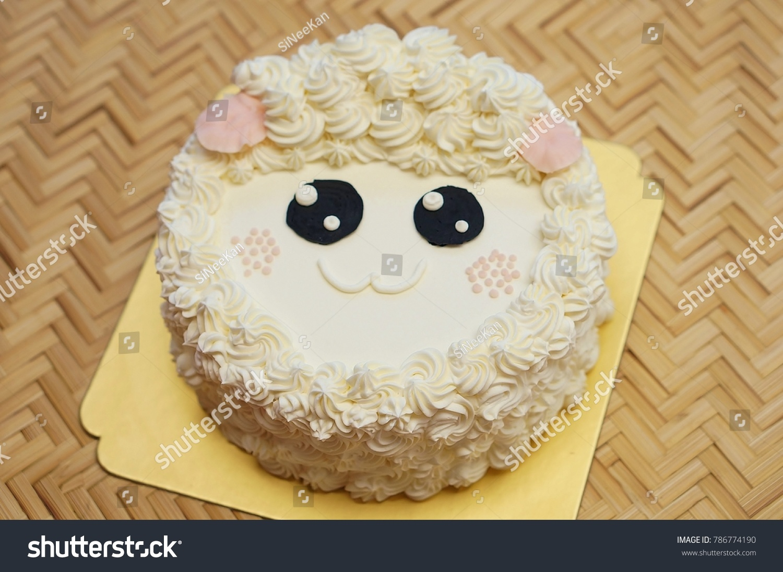 Sheep Birthday Cakes Afternoon Tea Set Stock Photo Edit Now
