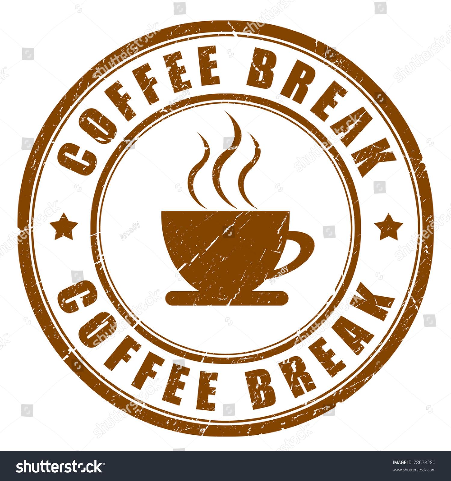 coffee break sign stock illustration 78678280 shutterstock