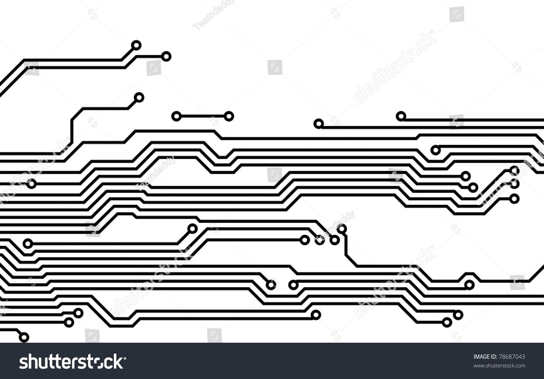 Drawing Pcb Printed Circuits Board Stock Illustration 78687043 Circuit 13 Royalty Free Photos Image