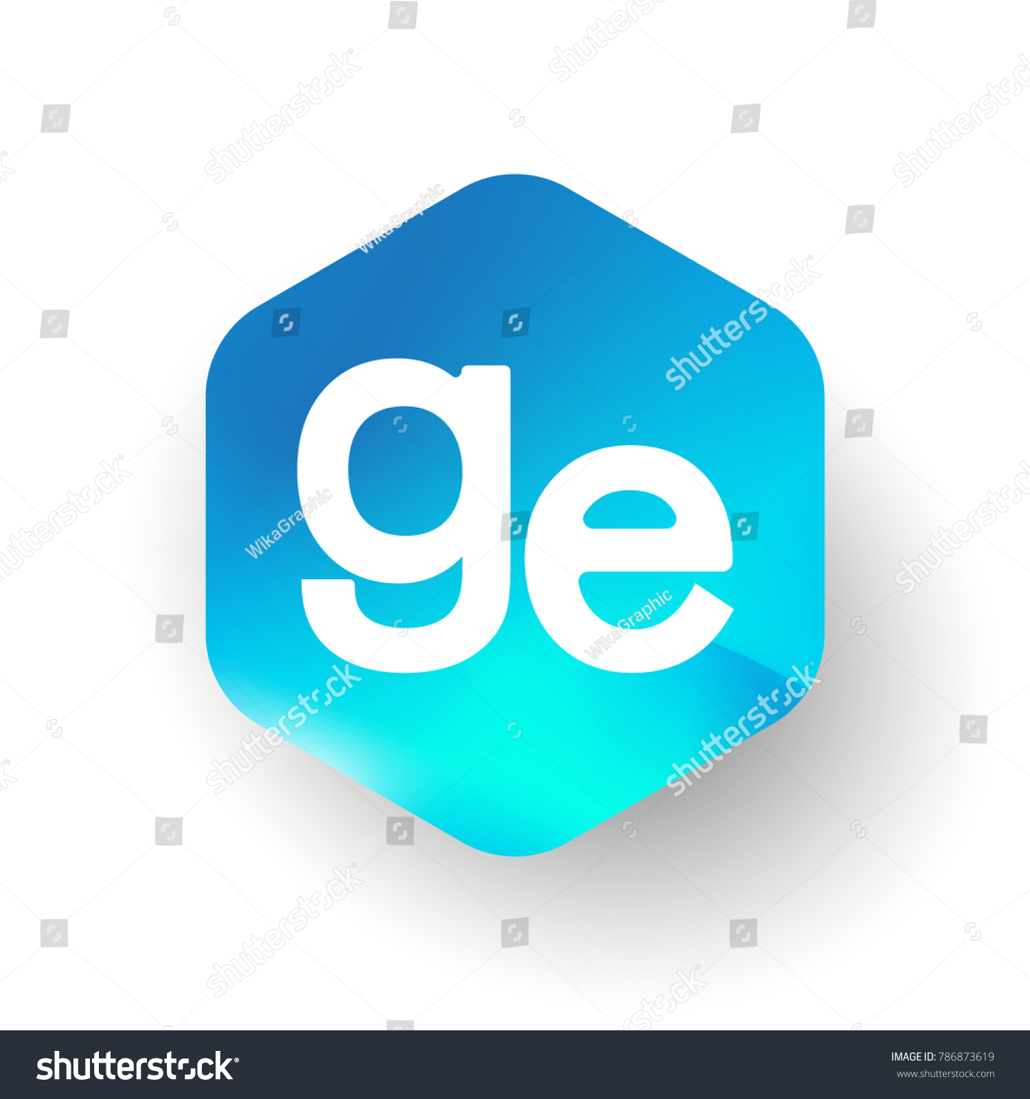 Letter ge logo hexagon shape colorful stock vector 786873619 letter ge logo in hexagon shape and colorful background letter combination logo design for business biocorpaavc Gallery