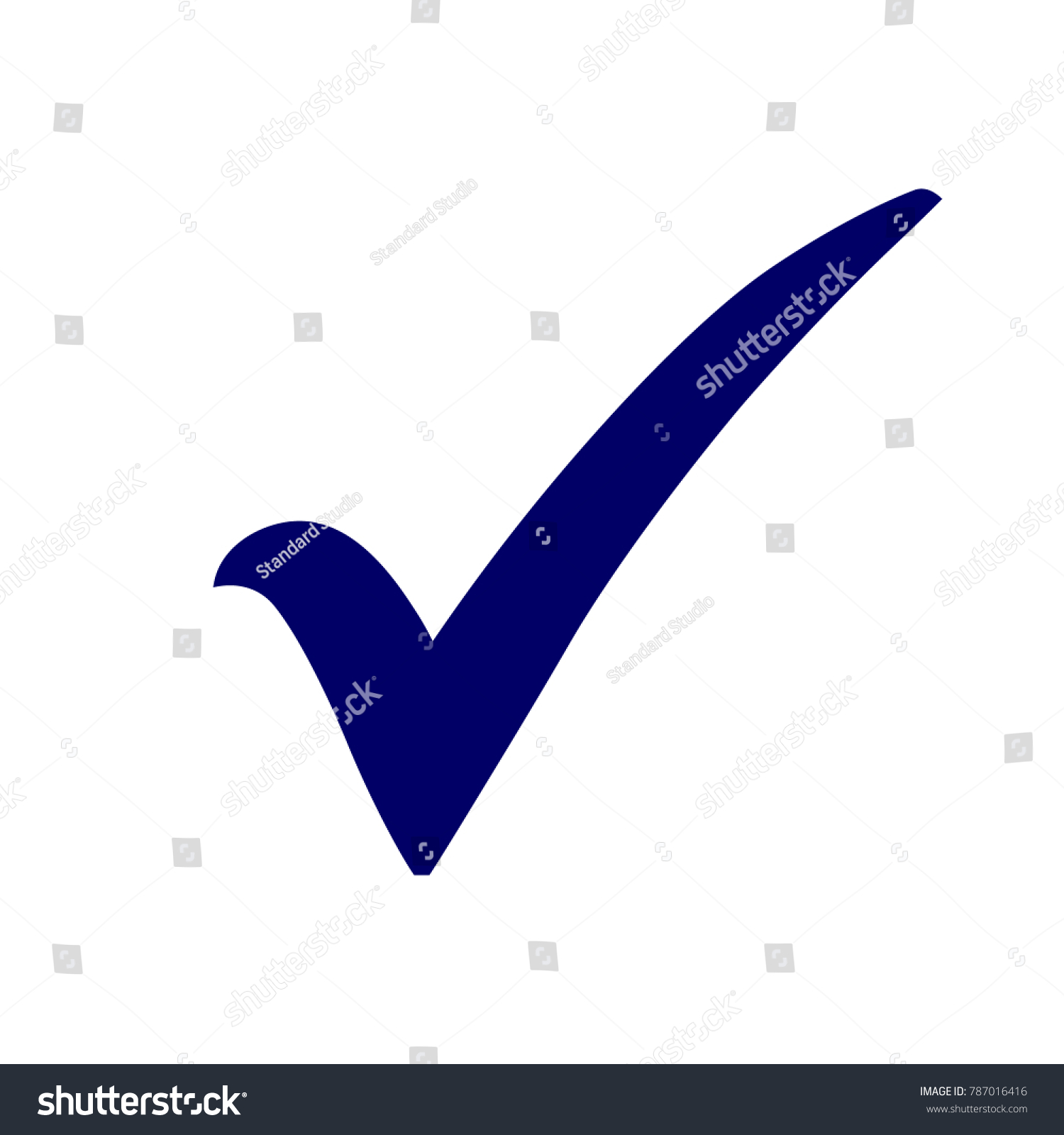 Blue Check Mark Icon Tick Symbol Stock Vector Royalty Free