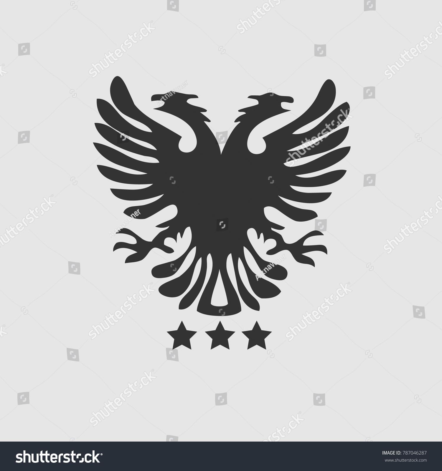 Eagle Symbol Three Stars Stock Vector Royalty Free 787046287