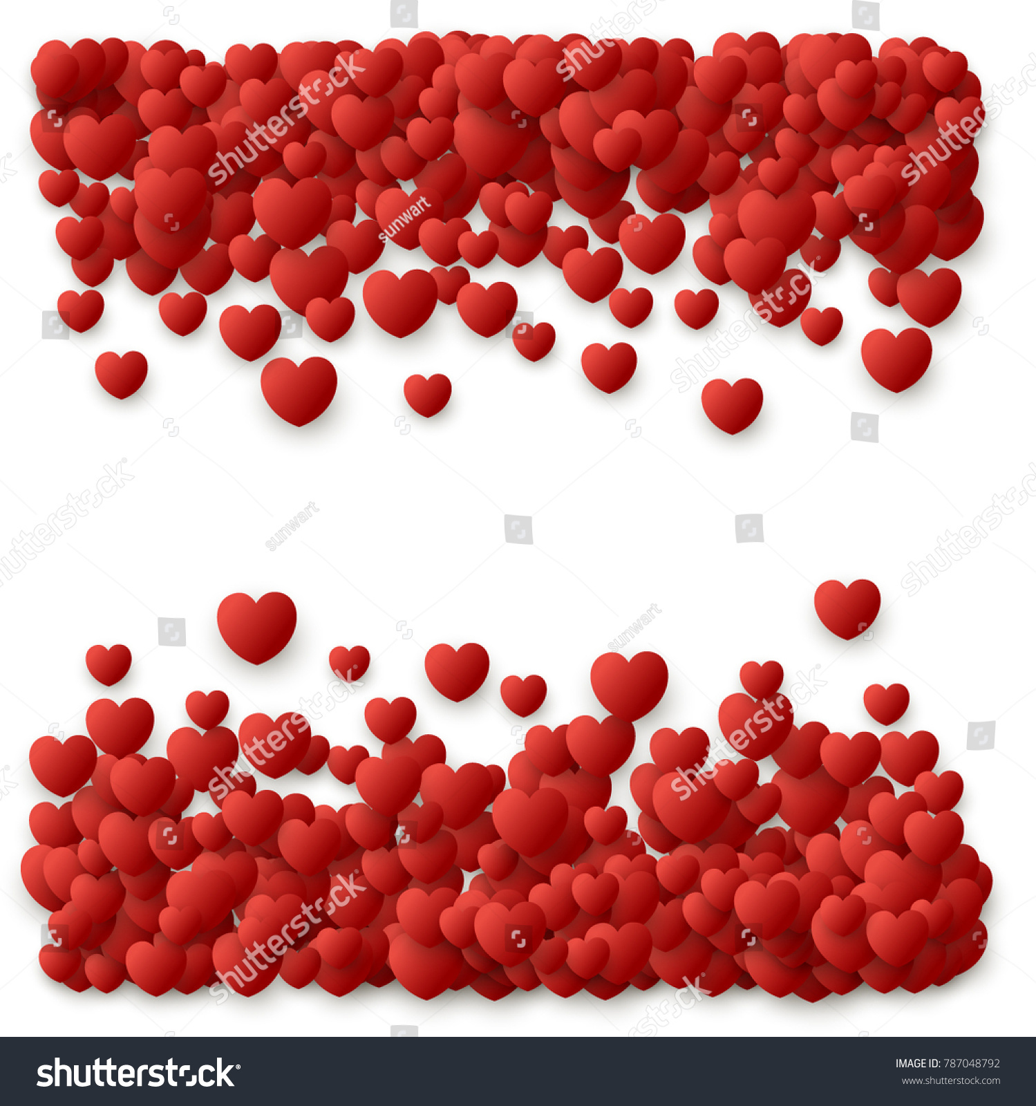 Heart love symbol border valentines day stock vector 787048792 heart love symbol border for valentines day red hearts flying confetti background border for biocorpaavc