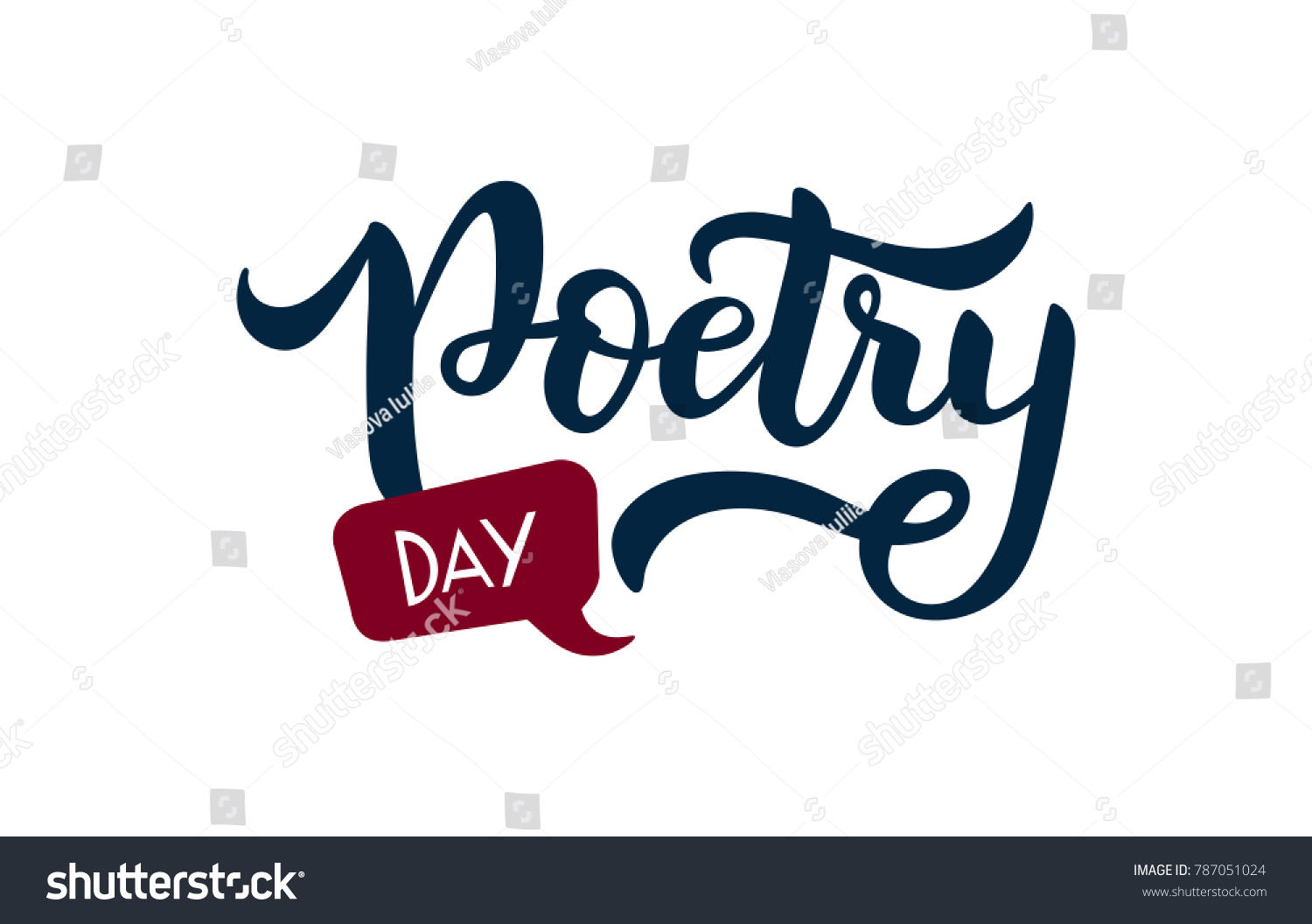 Vector illustration poetry day text literature stock photo photo