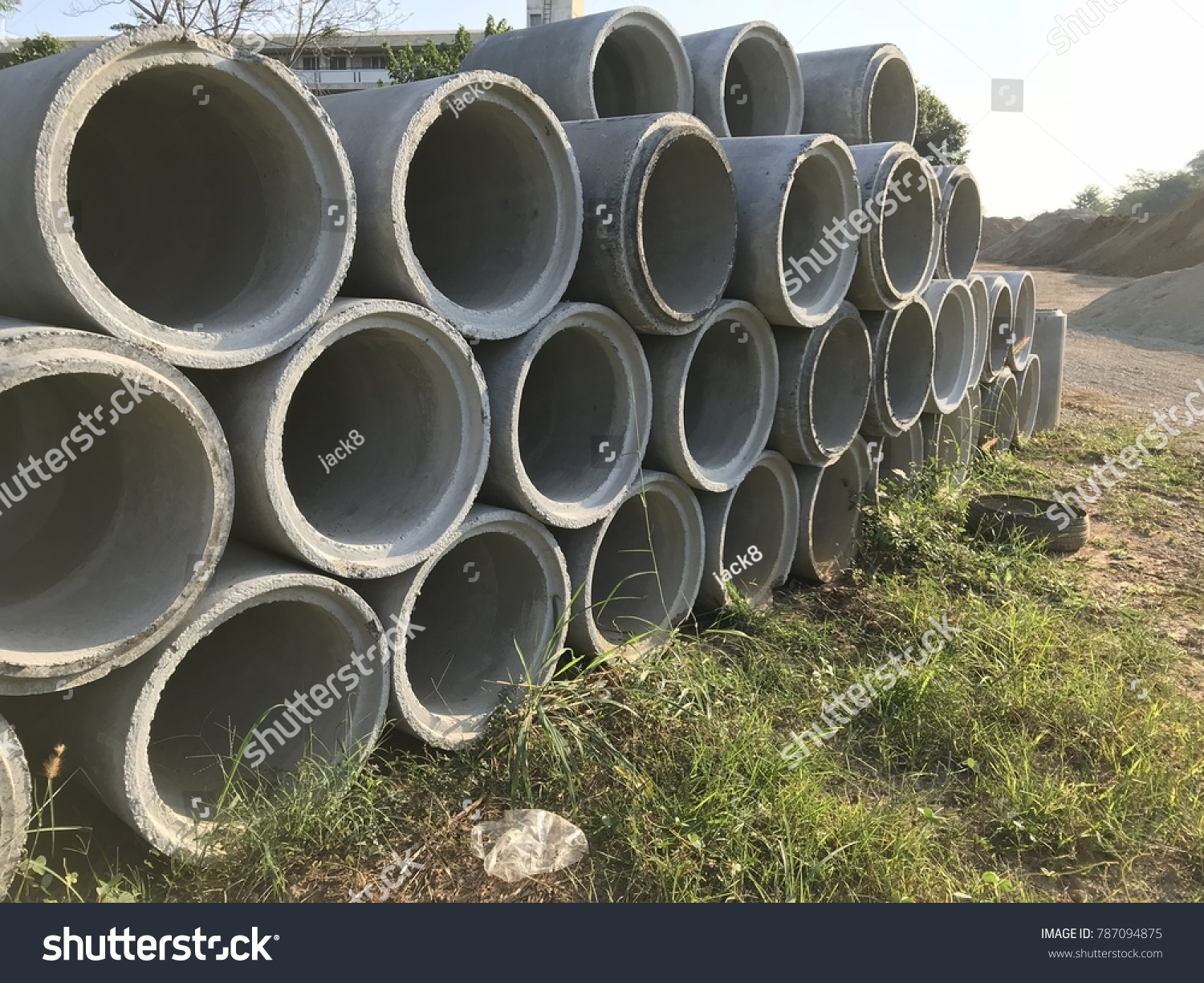 Concrete Drainage Ditch Stock Photo (Royalty Free) 787094875 - Shutterstock & Concrete Drainage Ditch Stock Photo (Royalty Free) 787094875 ...