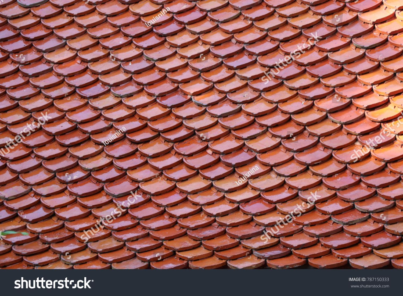 Roof Tiles Brown Color Temple Measure Stock Photo (Edit Now ...