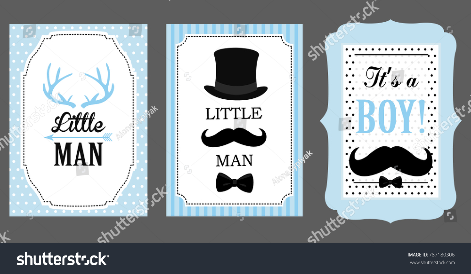 Little Man Birthday Party Baby Shower Stock Vector (Royalty Free ...