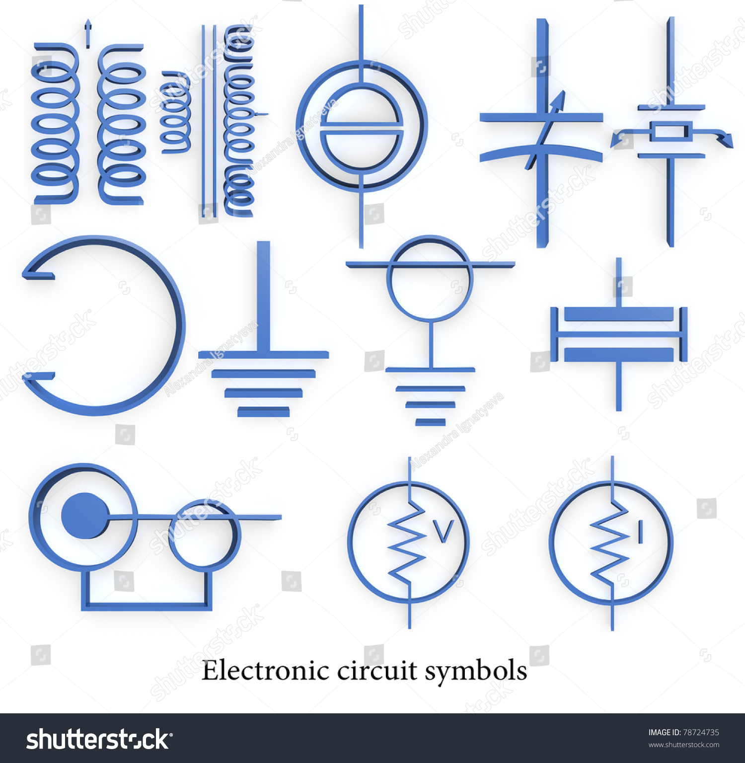 Electronic circuit symbols stock illustration 78724735 shutterstock biocorpaavc Gallery