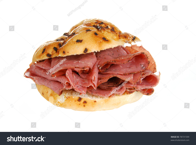 Sliced roast beef package - A Sandwich With Thin Sliced Roast Beef On A Bun