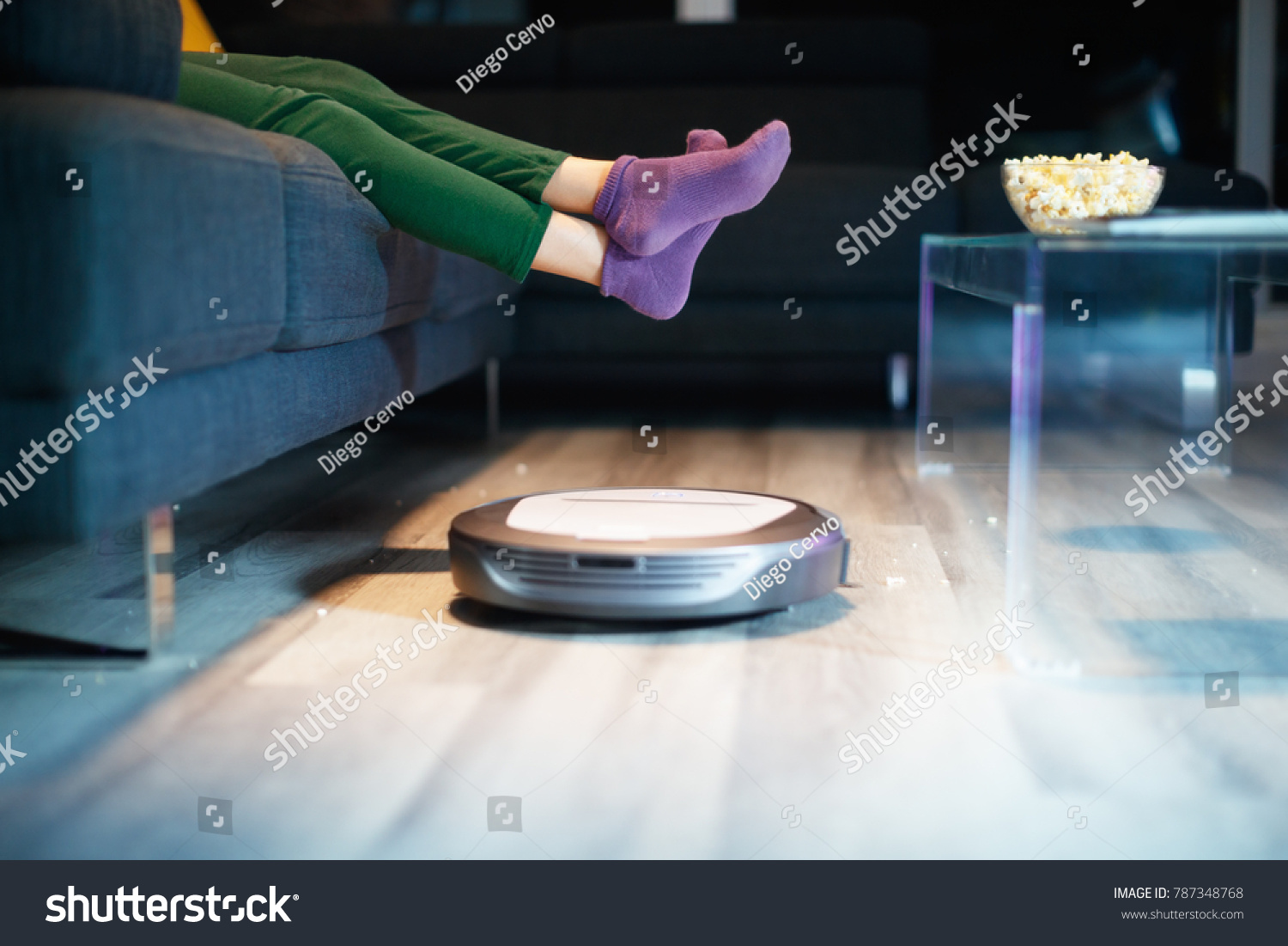 stock watches man photo shutterstock sits tv sofa beer on and with popcorn happy the image fat