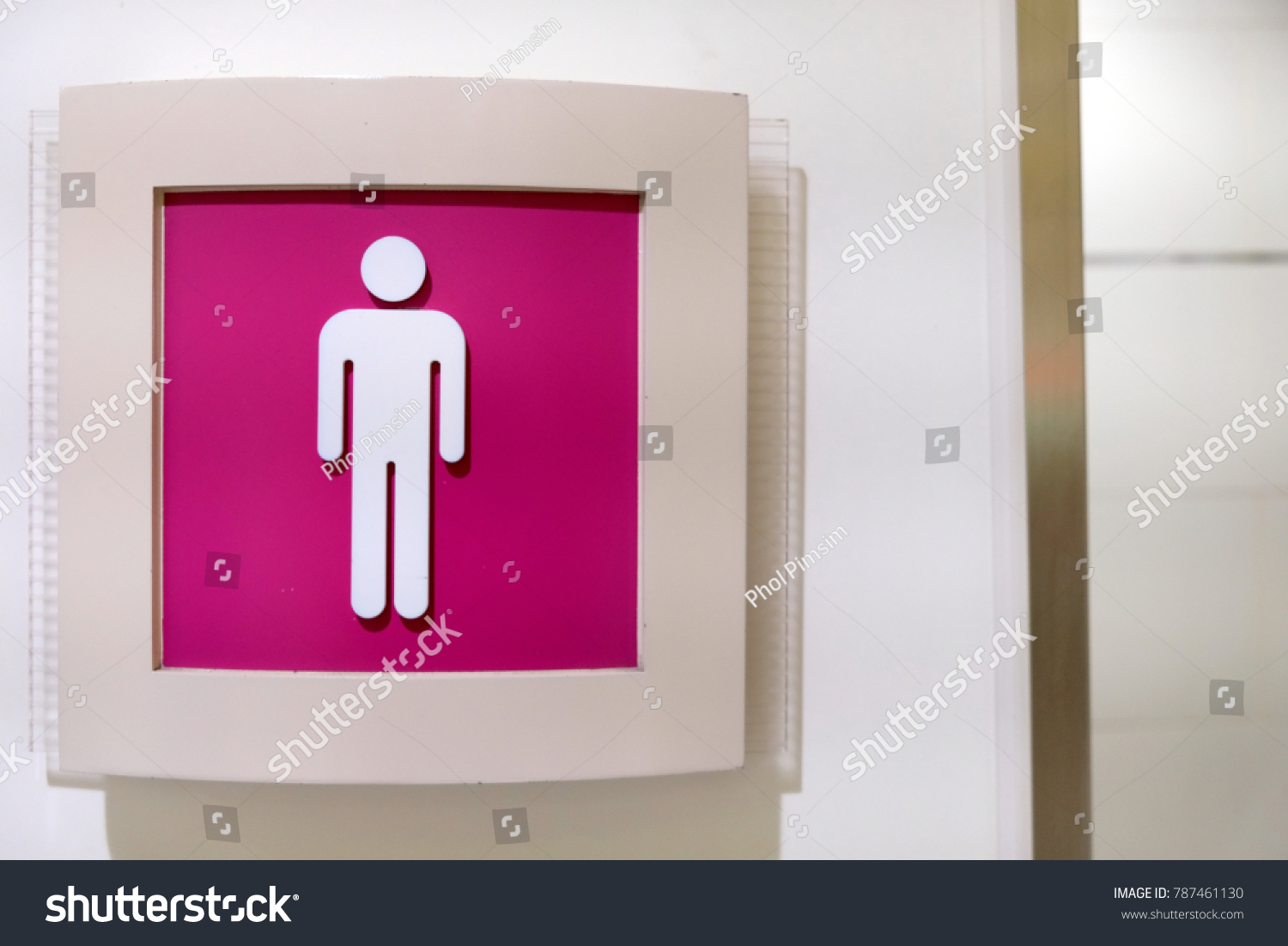 male sign logo in front of toilet | EZ Canvas