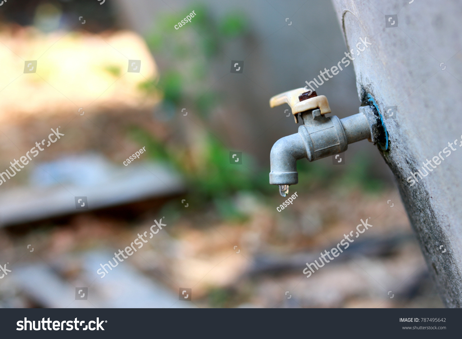 Leaky Faucet Water Drops Stock Photo (100% Legal Protection ...