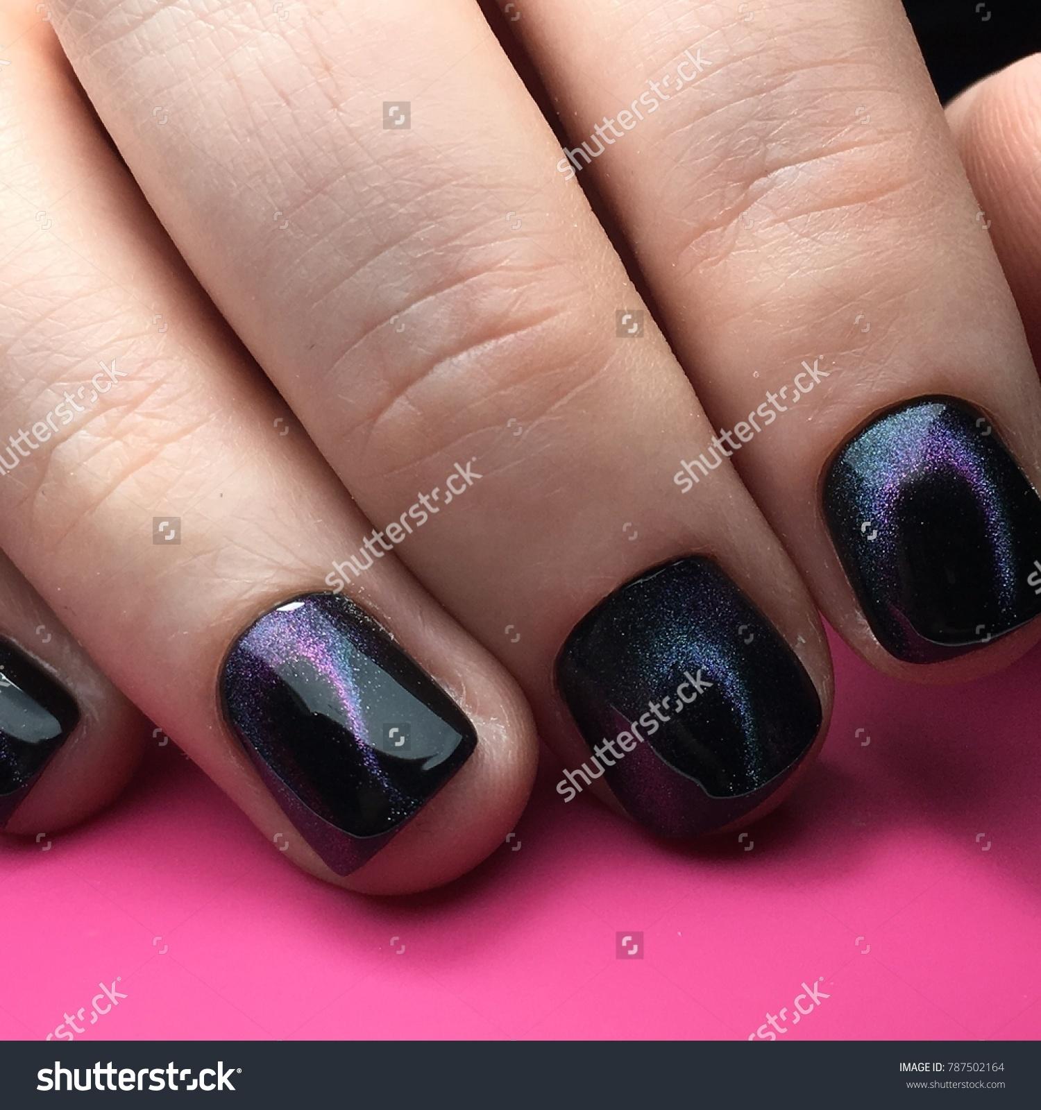 Cat Eyes Nail Art Manicure Salon Stock Photo (Royalty Free ...