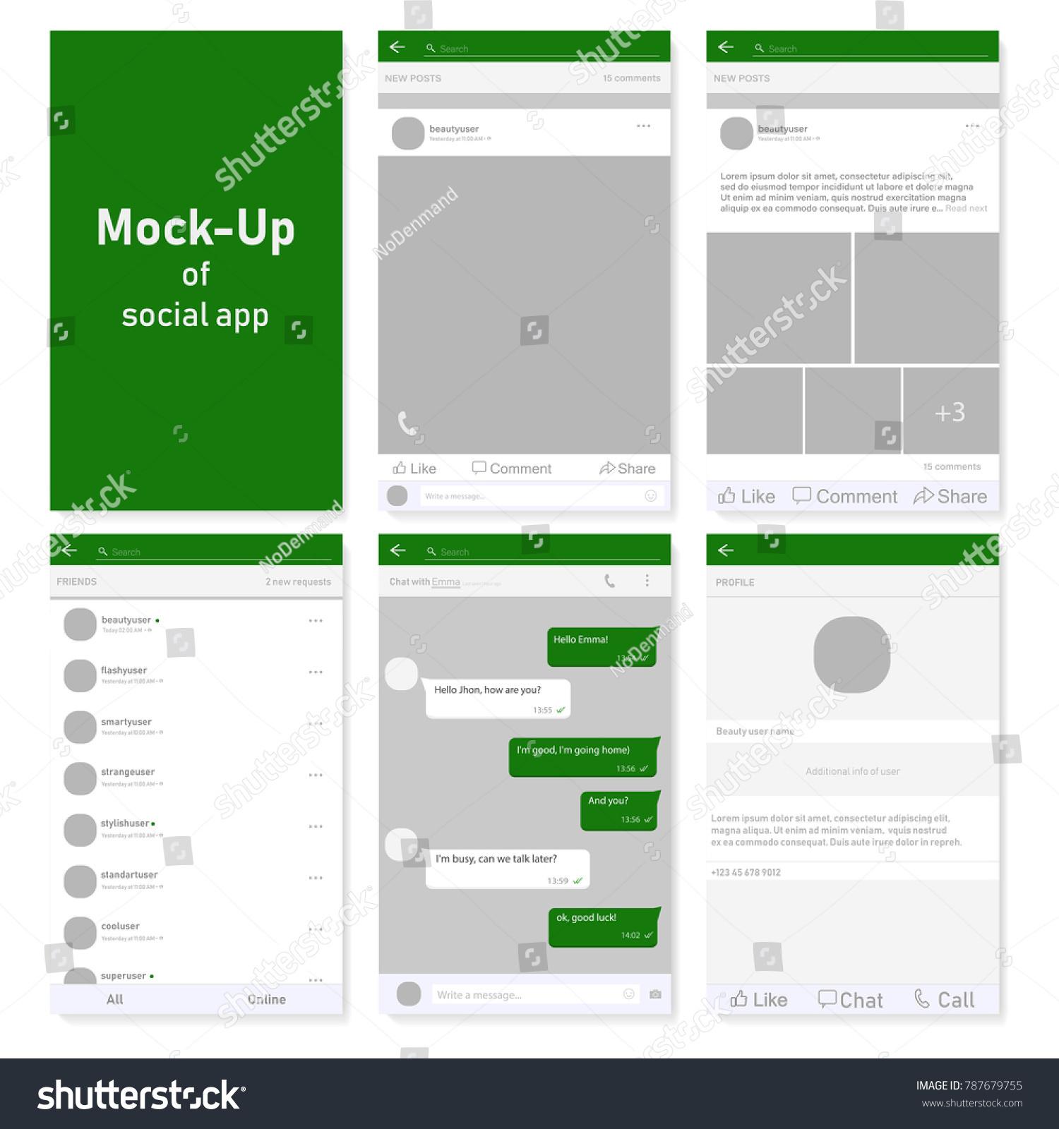 Set Social Network Photo Post Frames Stock Vector (Royalty Free ...