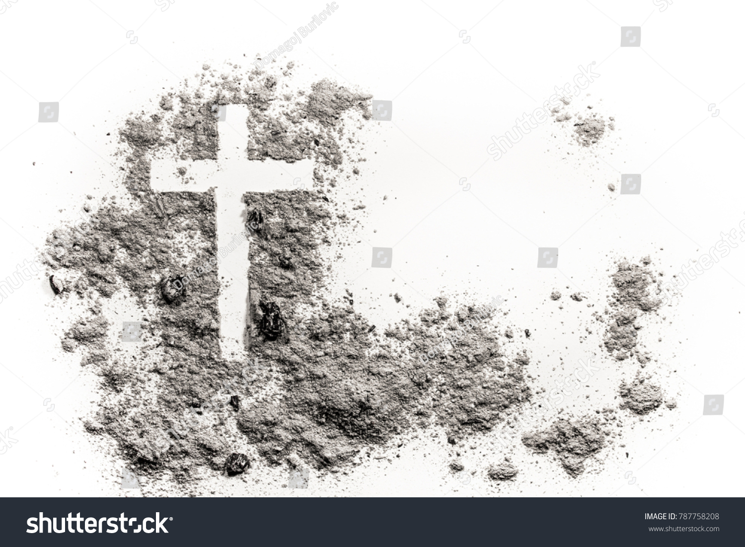 Christian cross crucifix drawing ash dust stock photo 787758208 christian cross or crucifix drawing in ash dust or sand as symbol of religion buycottarizona