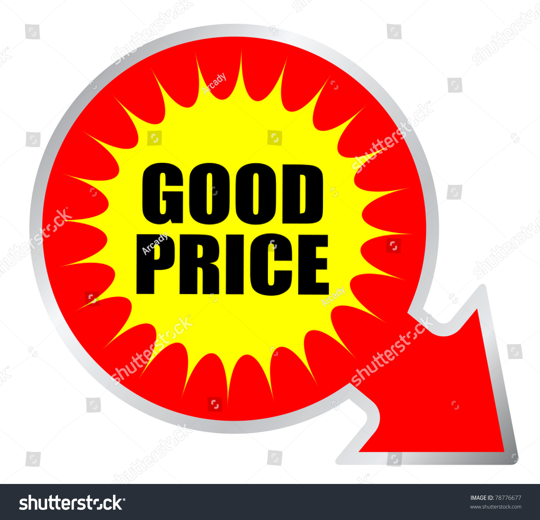 Good Price Sticker Stock Illustration 78776677