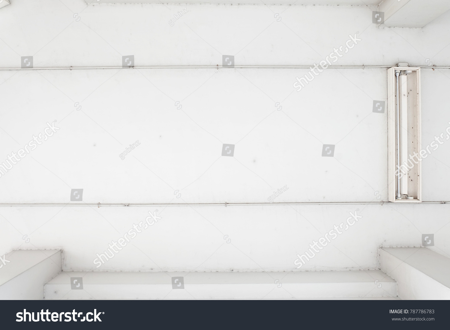 Wiring Fluorescent Lamp Look Ceiling See Conduit Stock Photo Edit Now Up To The And Minimal Style