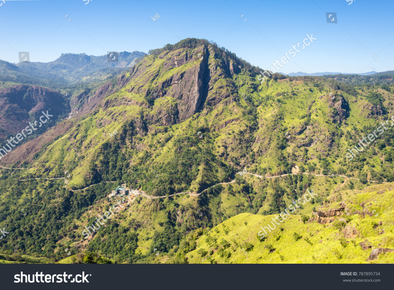 d9a81038b View from the little Adams Peak to the popular Ella Rock. Near the small  town