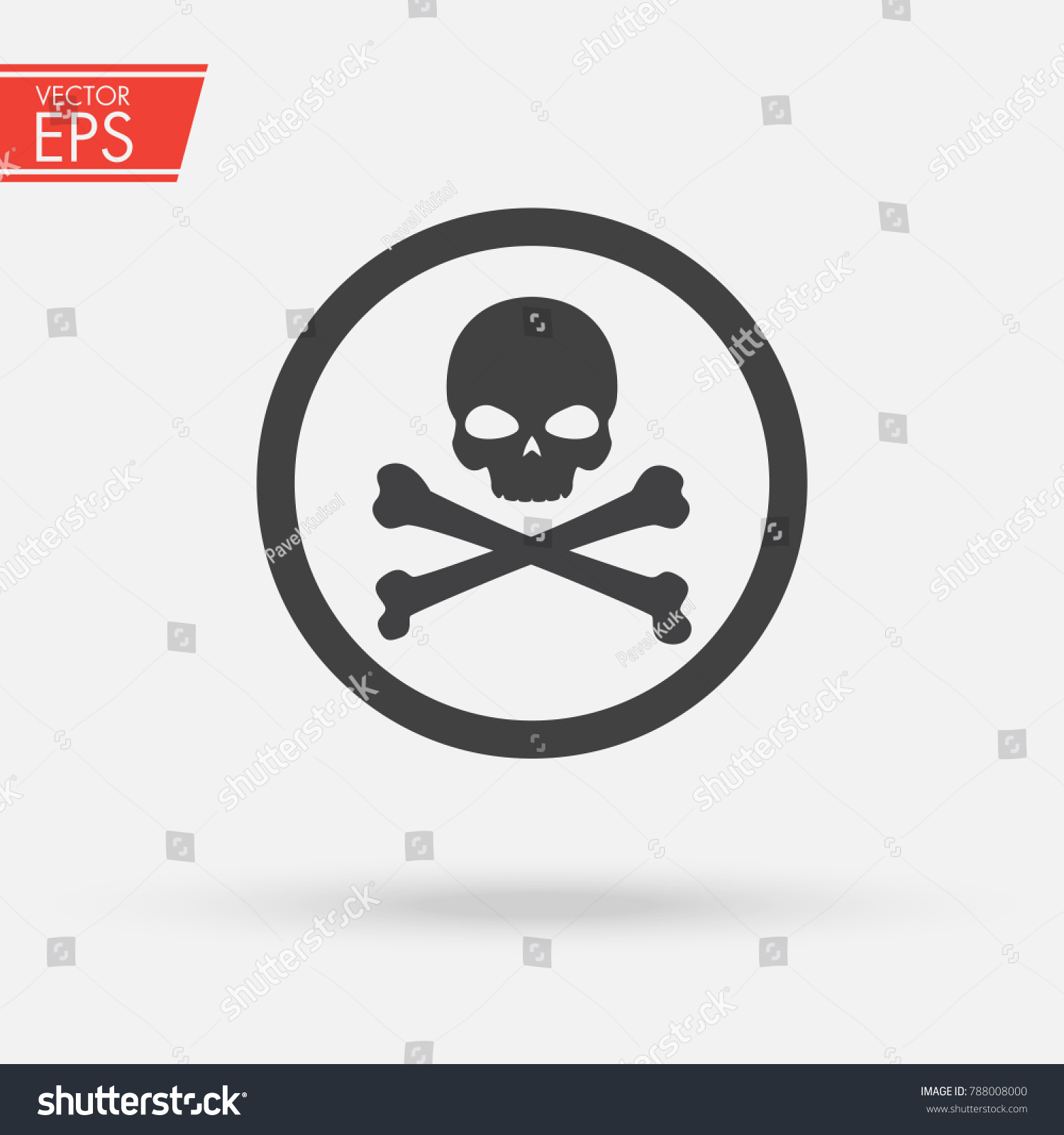 Skull bones logo warning attention icon stock vector 788008000 skull and bones logo warning attention icon poison symbol flat vector illustration vector biocorpaavc Image collections