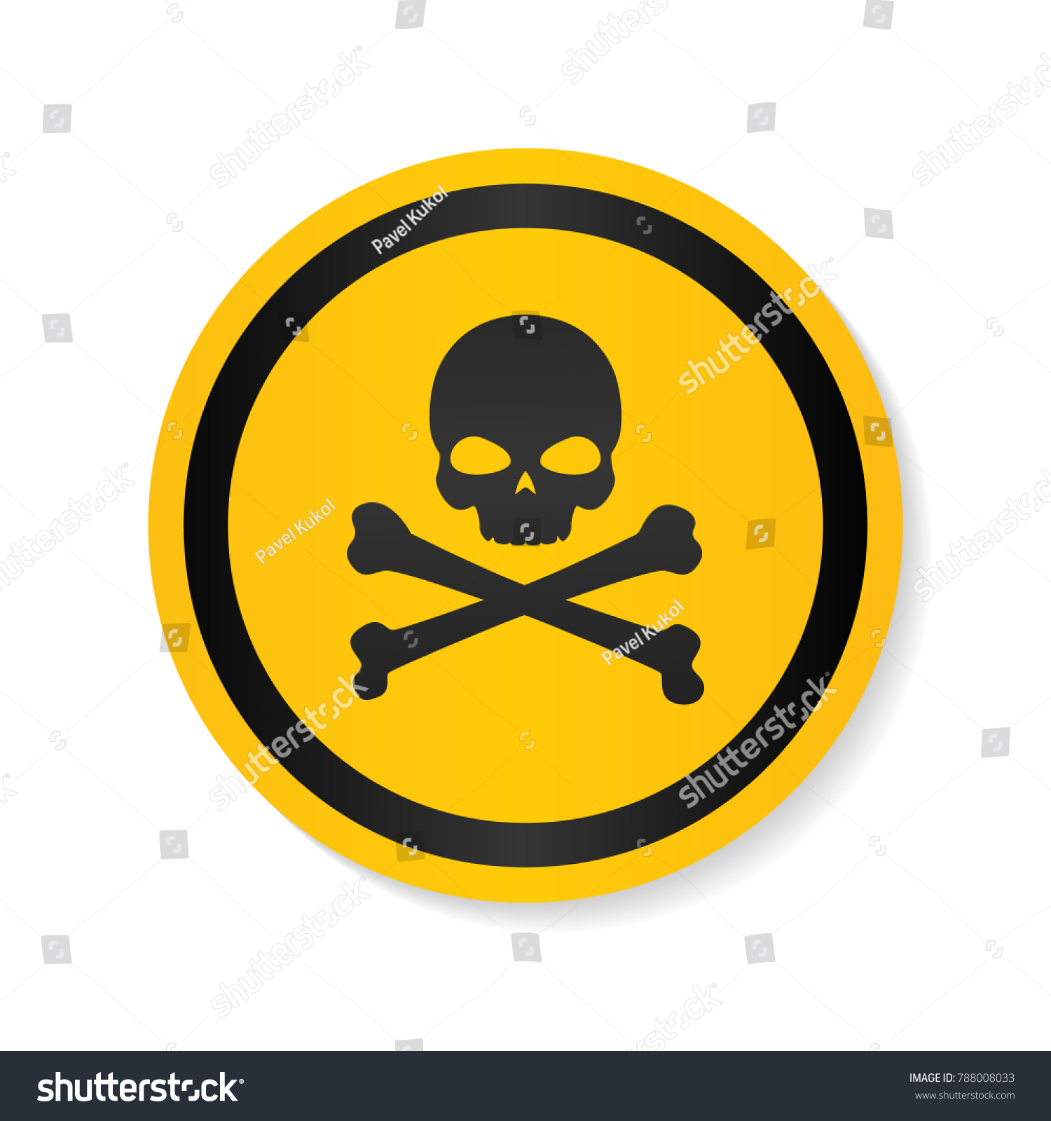 Skull bones logo warning attention icon stock vector 788008033 skull and bones logo warning attention icon poison symbol flat vector illustration vector biocorpaavc Image collections