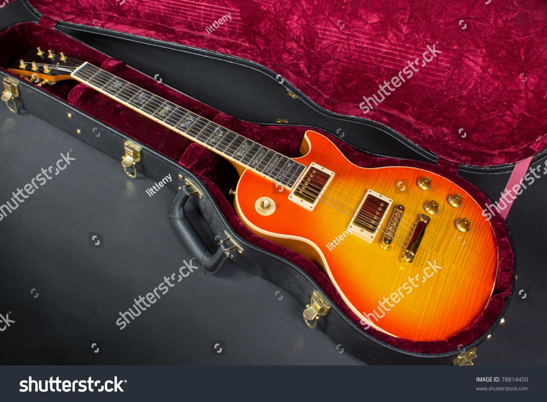 cool guitar case stock photo 78814450 shutterstock. Black Bedroom Furniture Sets. Home Design Ideas