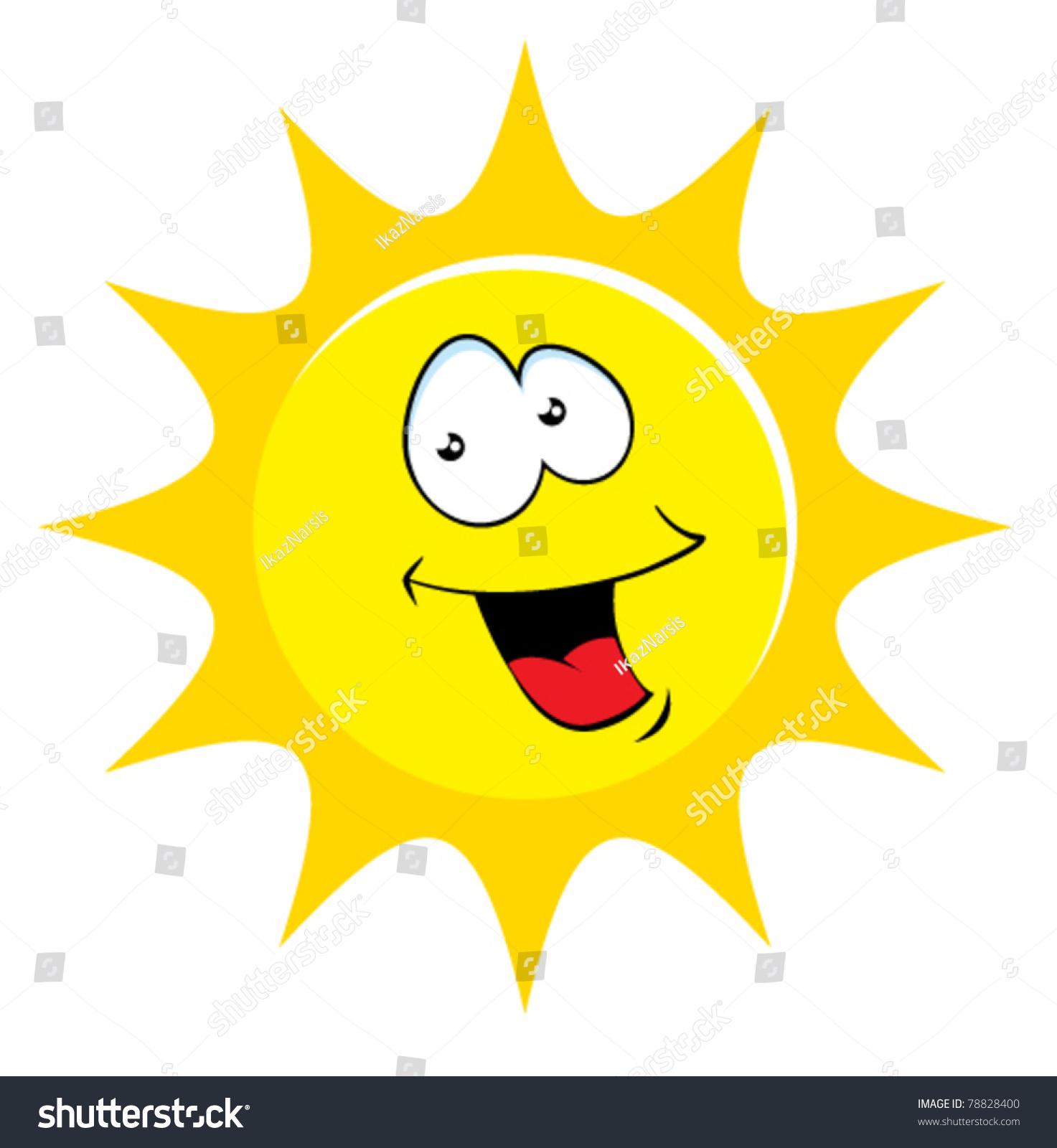 happy sun cartoon illustration stock vector 78828400 spring season clip art free spring season clip art images