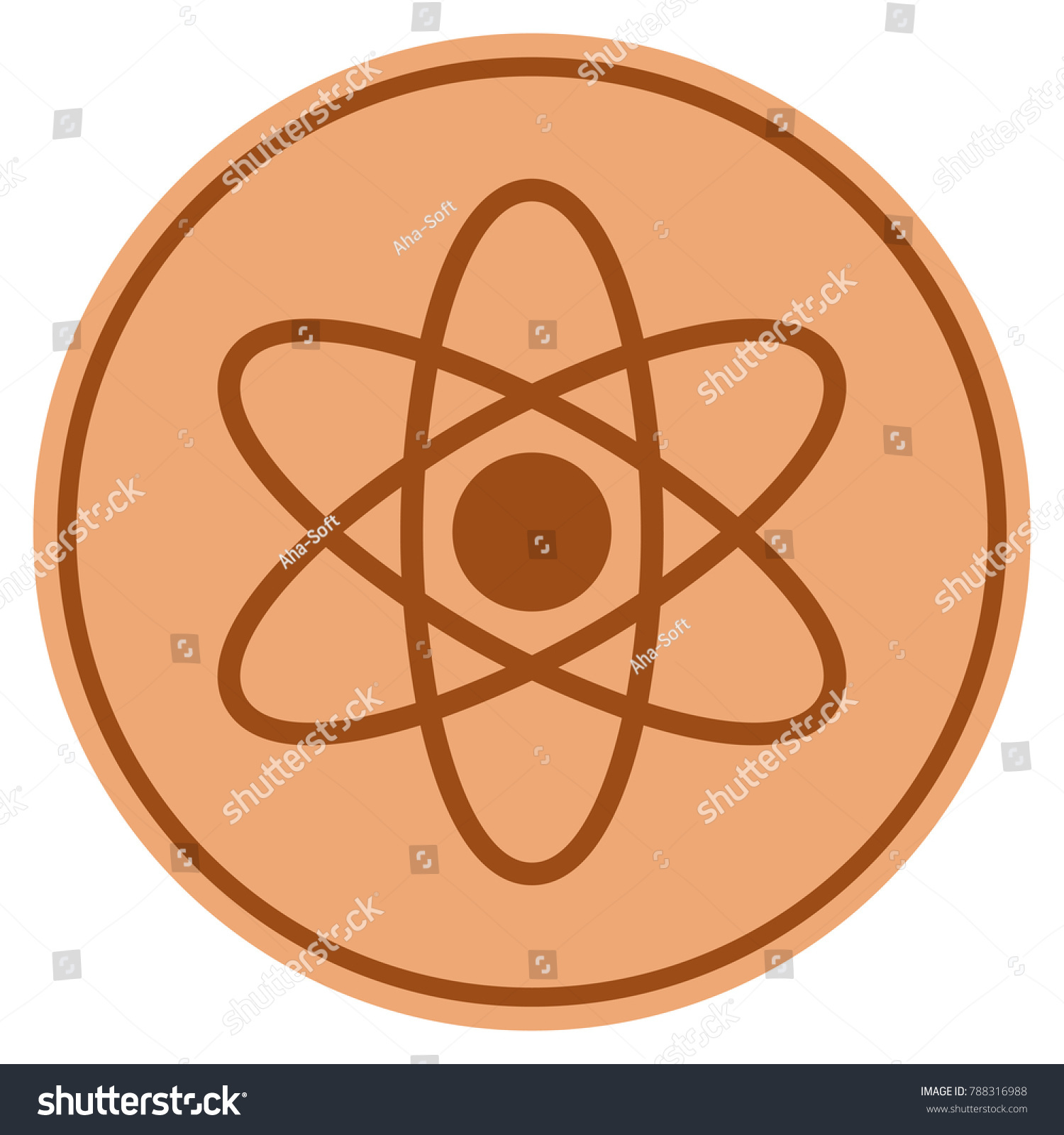 Bronze element symbol image collections symbol and sign ideas atom bronze coin icon vector style stock vector 788316988 atom bronze coin icon vector style is urtaz Choice Image
