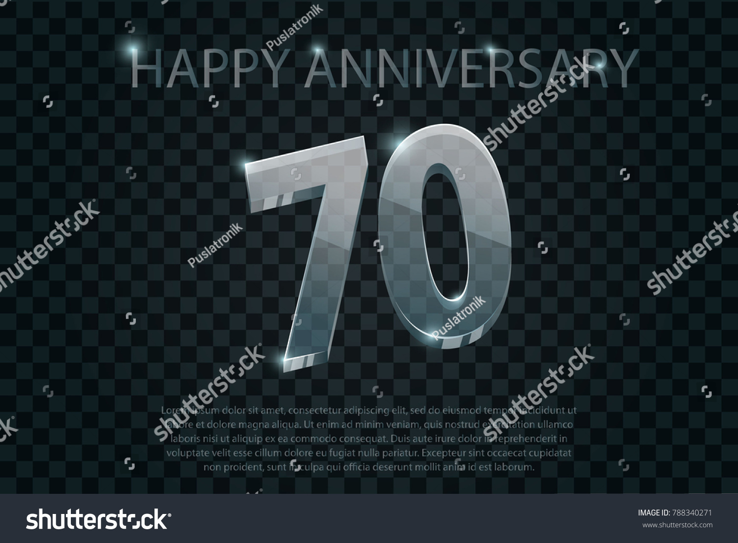 Happy anniversary birthday celebration 70th years stock vector happy anniversary birthday celebration 70th years inscription of glass with text example on transparent biocorpaavc