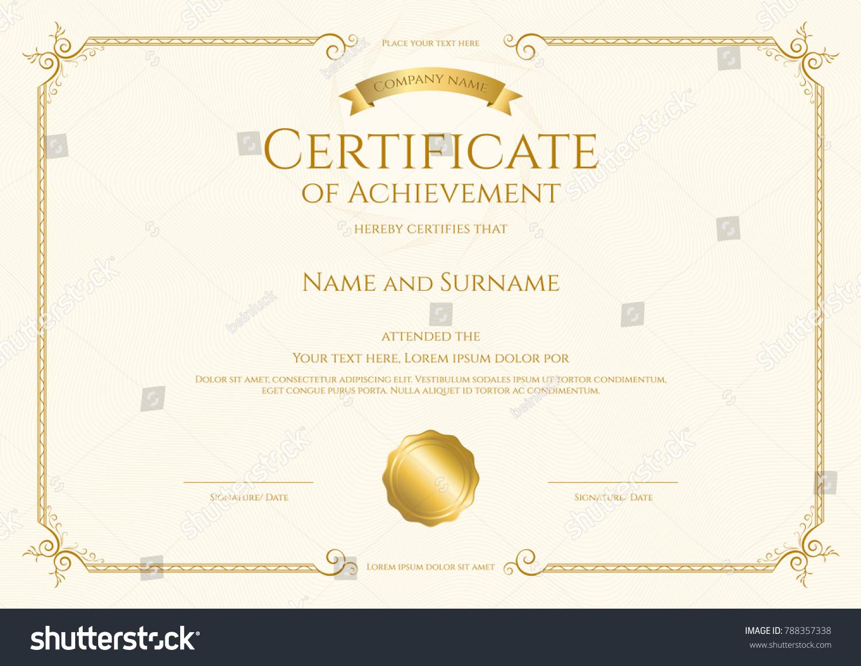 Luxury certificate template elegant border frame stock vector luxury certificate template elegant border frame stock vector 788357338 shutterstock xflitez Gallery