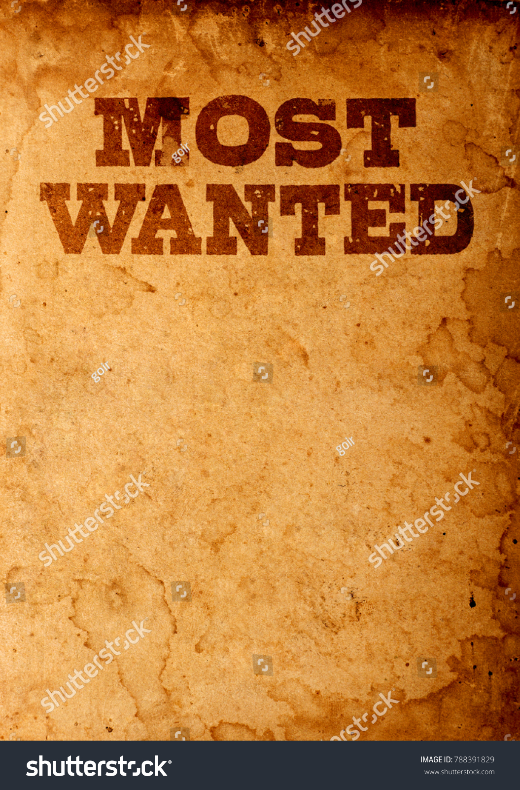 Most Wanted Poster Stock Photo Edit Now 788391829