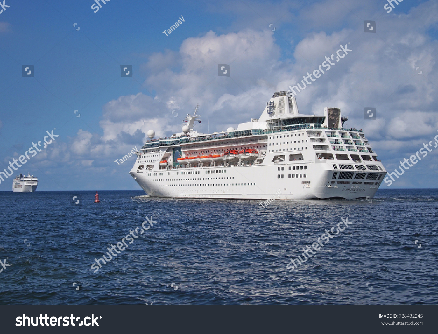 Havana Cuba December Royal Stock Photo - Empress of the seas cruise ship