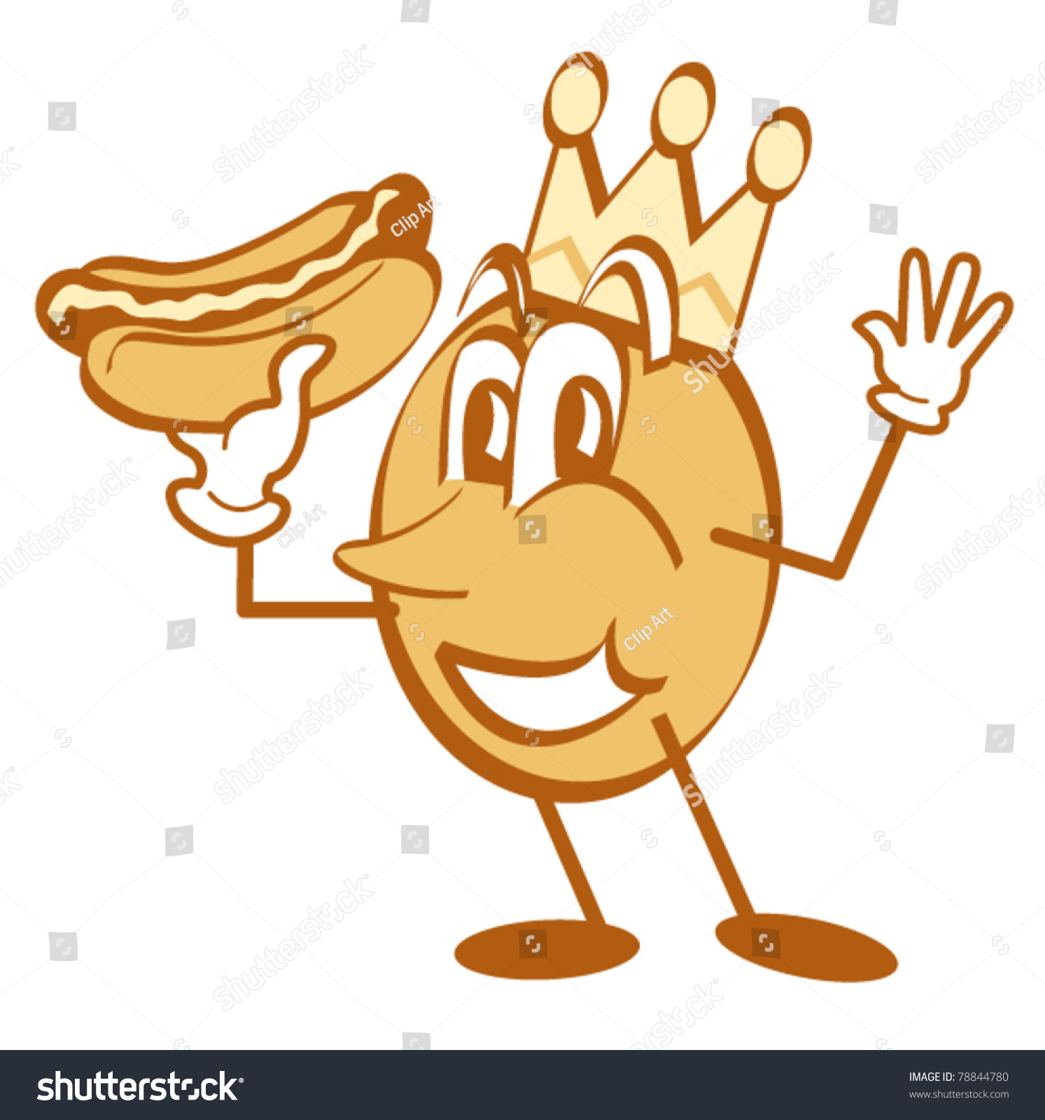 Cartoon Character Wearing Crown Holding Hotdog Stock Vector Royalty Free 78844780 Cartoon crown transparent images (1,796). https www shutterstock com image vector cartoon character wearing crown holding hotdog 78844780
