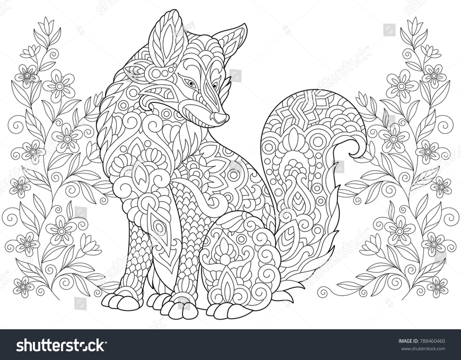 Coloring Pages Totem Animals : Coloring page adult coloring book wild stock photo photo