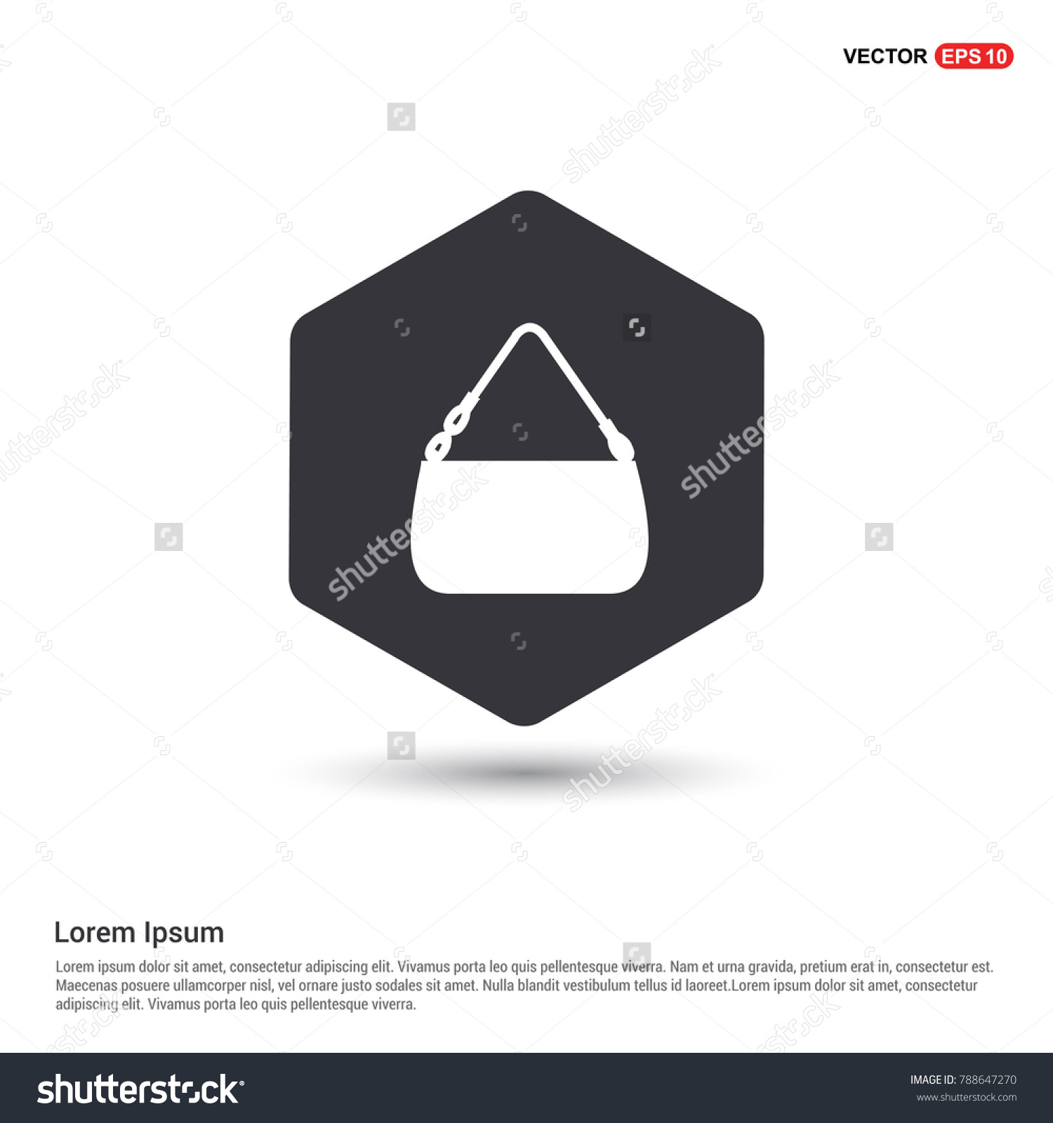 Add Bag Purse Icon Background Icon Stock Vector (2018) 788647270 ...