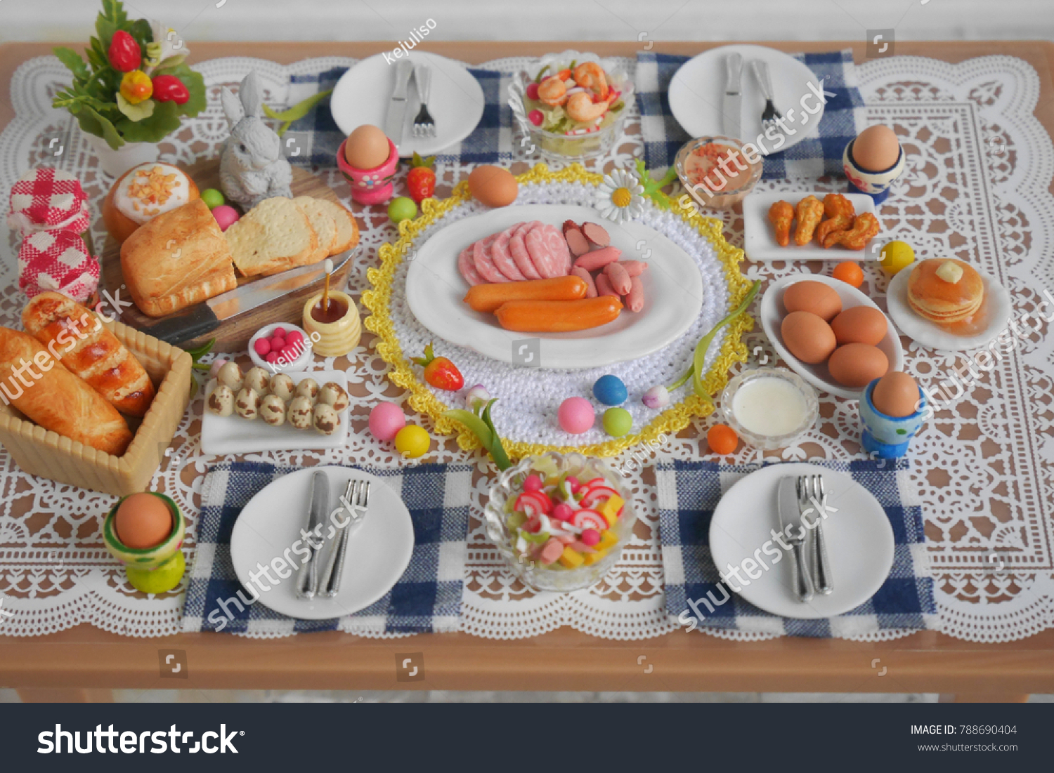 Breakfast Brunch Table Setting Easter Meal Stock Photo (Royalty Free) 788690404 - Shutterstock : brunch table setting - Pezcame.Com