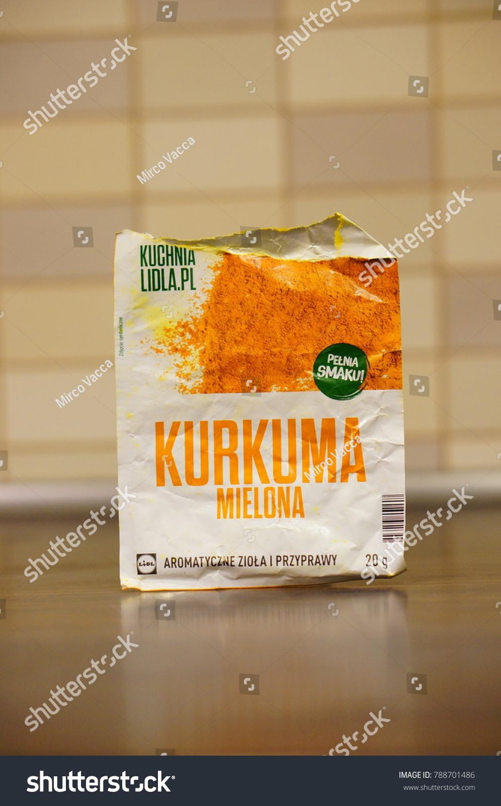 Polish Lidl Brand Curcuma Spice Opened Stock Photo Edit Now