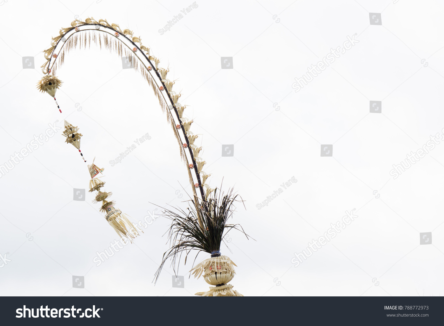 Penjor Symbol Thanks Greatness Gods Bali Stock Photo Edit Now