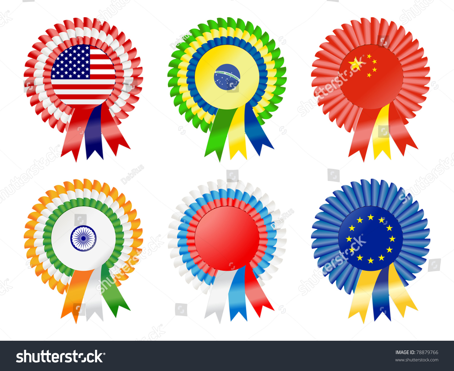 Rosettes Represent Possible Super Powers Current Stock Vector - Current time in usa