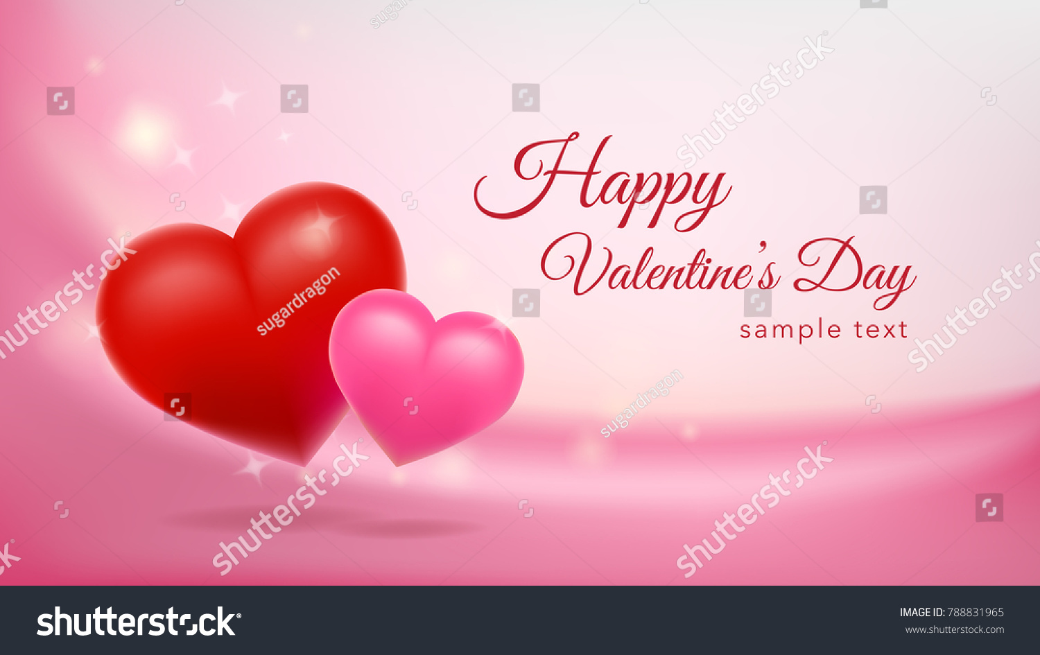 happy valentines day background design wallpaper stock vector