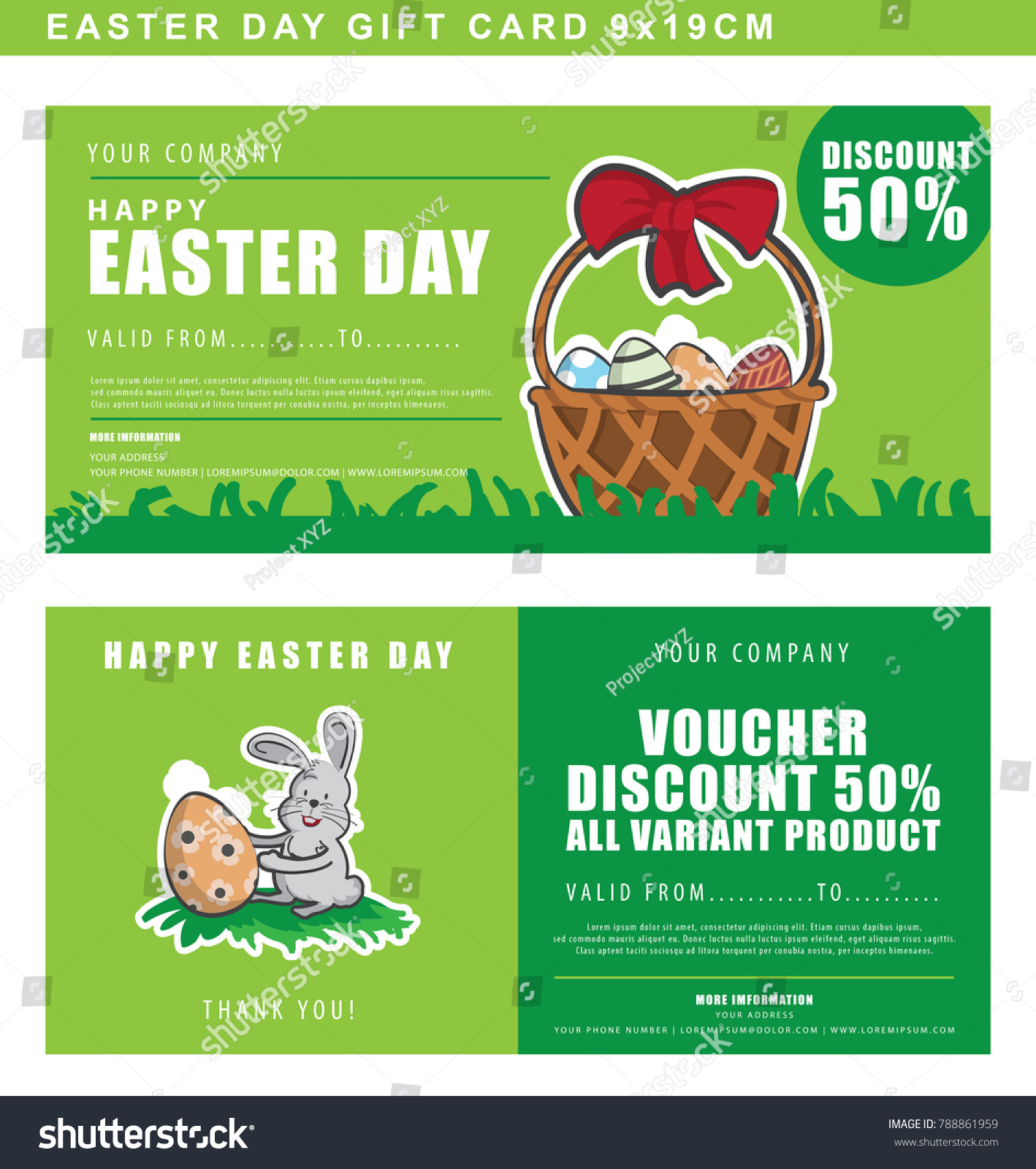 Easter Day Gift Coupon Template Shopping Stock Vector Royalty