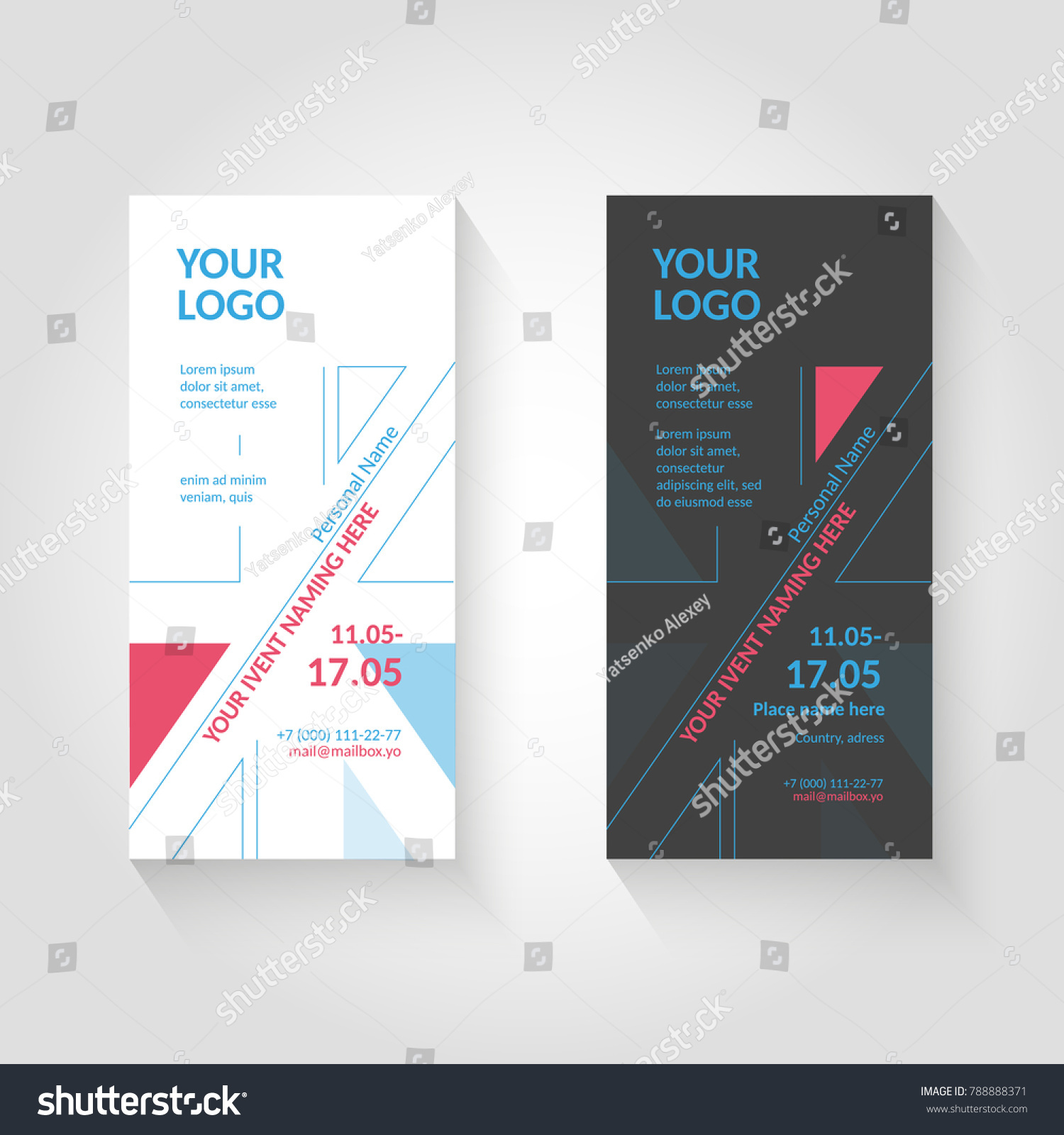 Flyer Template Based On British Flag Stock Vector 2018 788888371