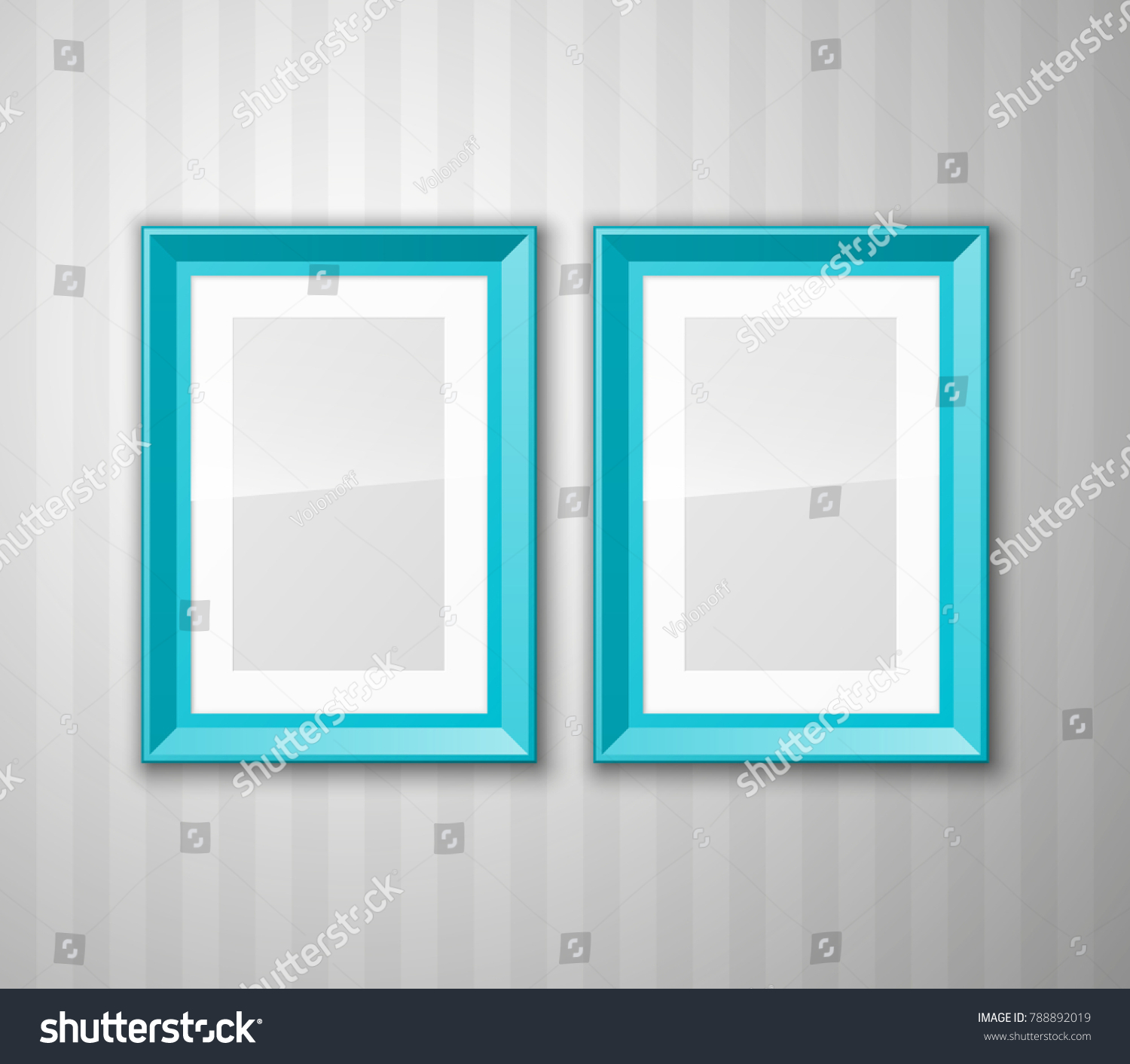 Set Color Blank Picture Frames Different Stock Vector (Royalty Free ...