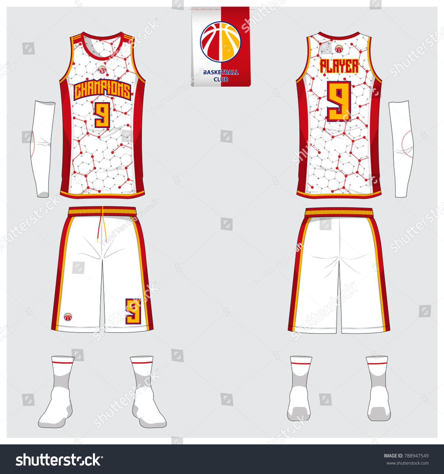 Basketball Uniform Template Design Tank Top Stock Vector Royalty