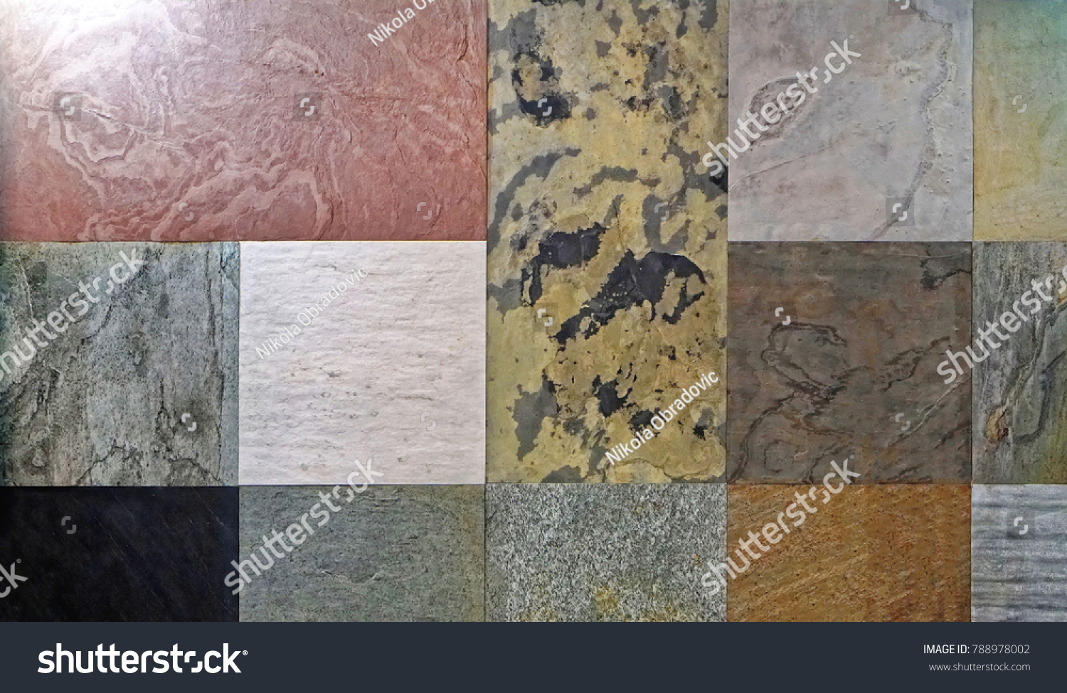 Granite Ceramic Tiles Various Patterns Colors Stock Photo Edit Now