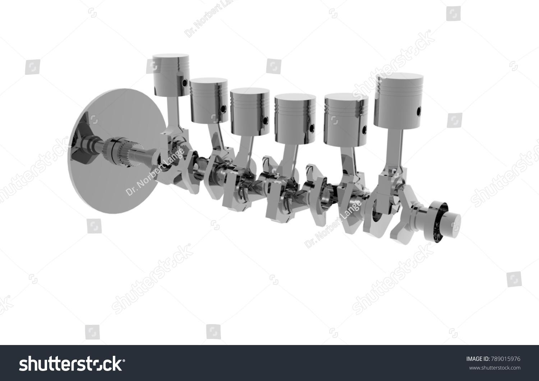 Internal Combustion Engine 3 D Rendering Stock Illustration Block Diagram 3d