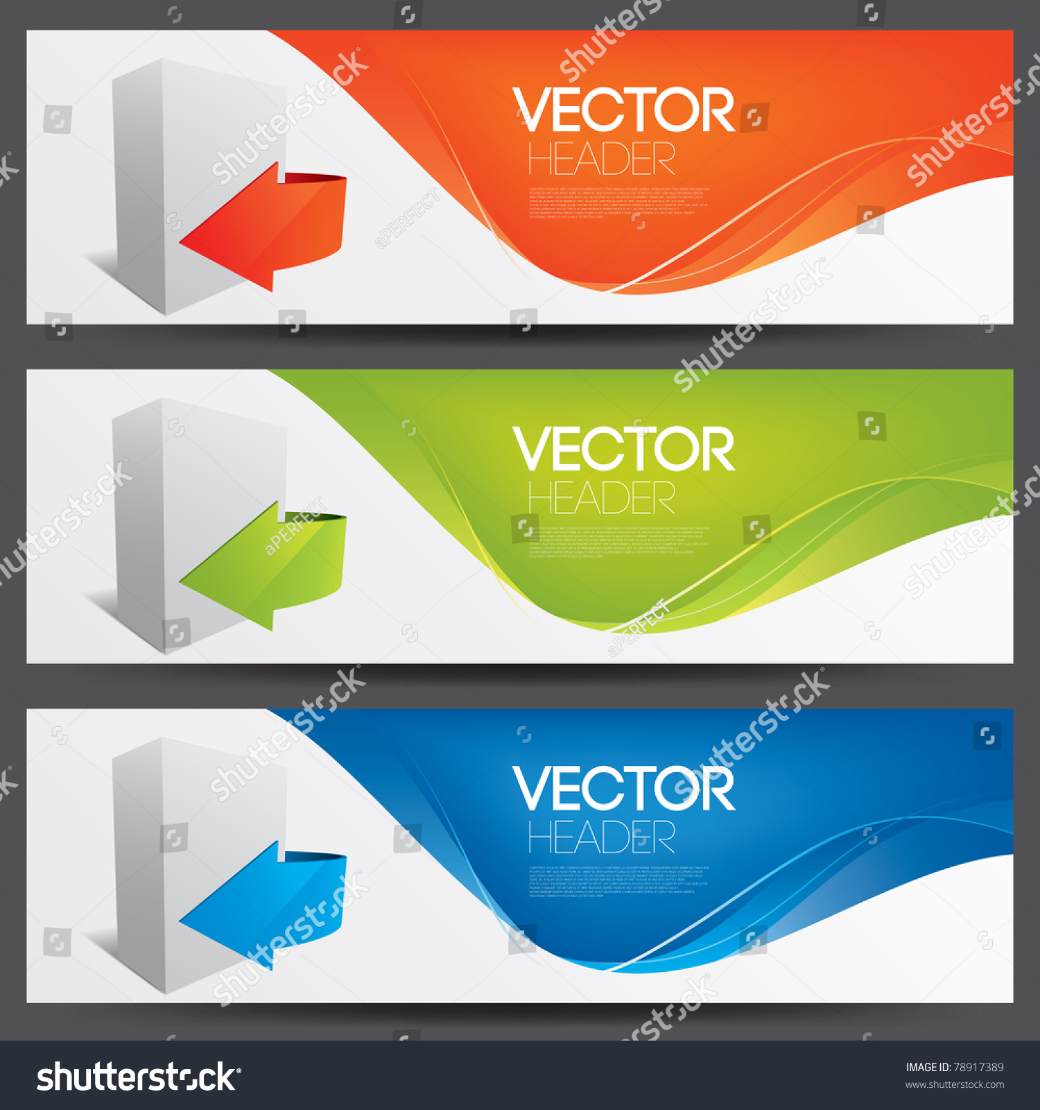 Vector website headers for software products 78917389 Vector image software