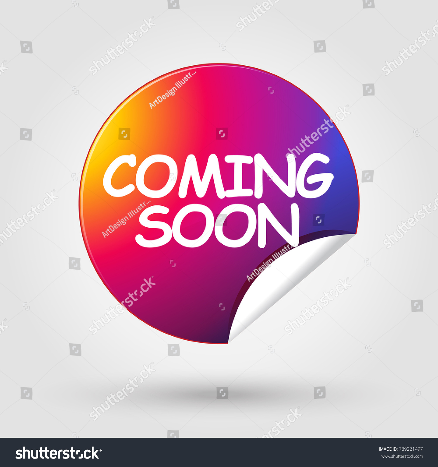 Coming Soon Labels Instagram Gift Tag Stock Vector Royalty Free 789221497