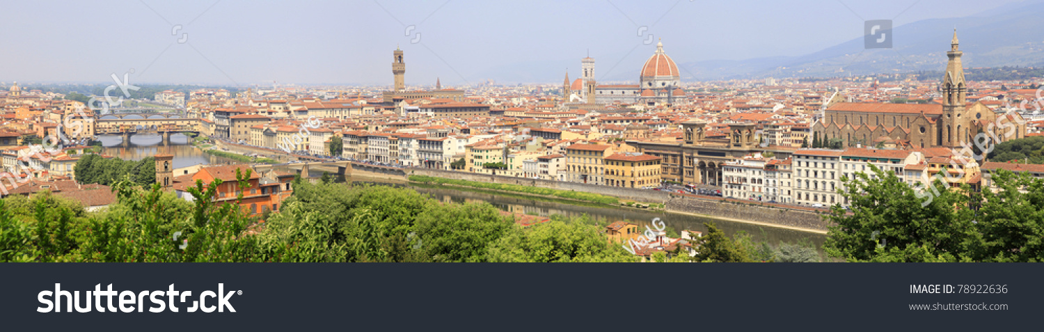 Italian Florence: Florence, Italy, Panoramic View From Piazzale Michelangelo