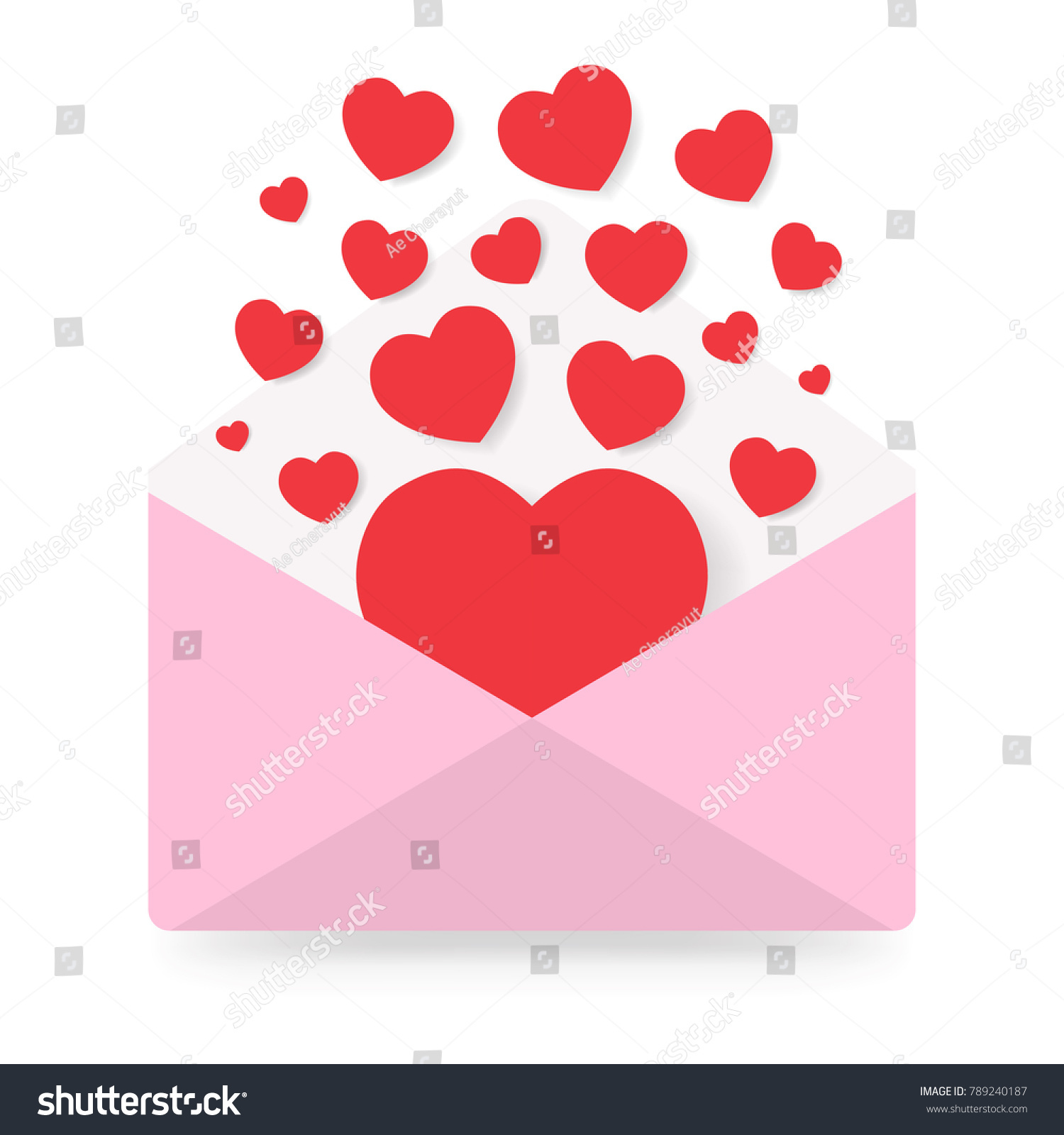 Happy Day Love Letter Greeting Invitation Stock Vector Royalty Free